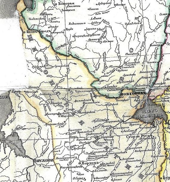 Шелонская пятина. Карта