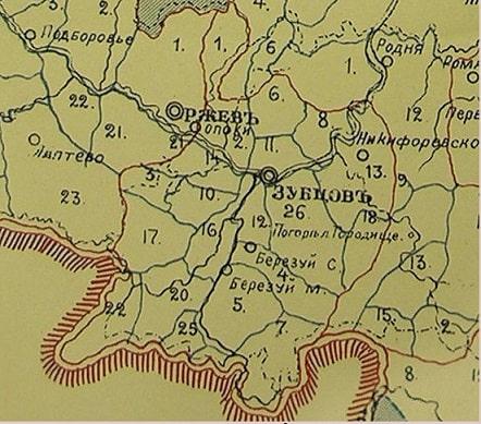 Зубцовский уезд. Карта. Зубцовское дворянство